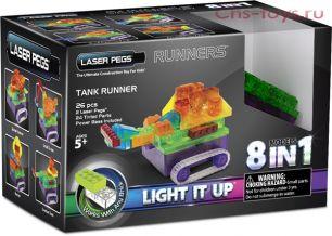Светодиодный конструктор 8 в 1 Laser Pegs Танк с цветными деталями