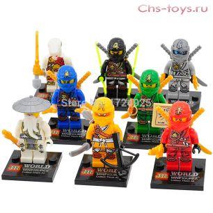 Набор из 8 конструкторов JINRUN Ninja JR747 (аналог LEGO Ninjago)