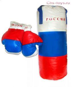 Боксерская груша+перчатки Full Contact, большая.