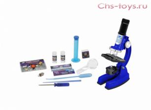"""Серия """"Познай мир"""" 90101 Детский учебный микроскоп с аксессуарами (46 предметов)."""