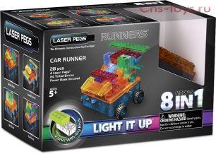 Светодиодный конструктор 8 в 1 Laser Pegs  Военная машина с цветными деталями