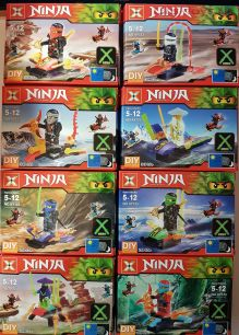 Набор из 8 конструкторов X Ninja XY123 (аналог Lego Ninjago)